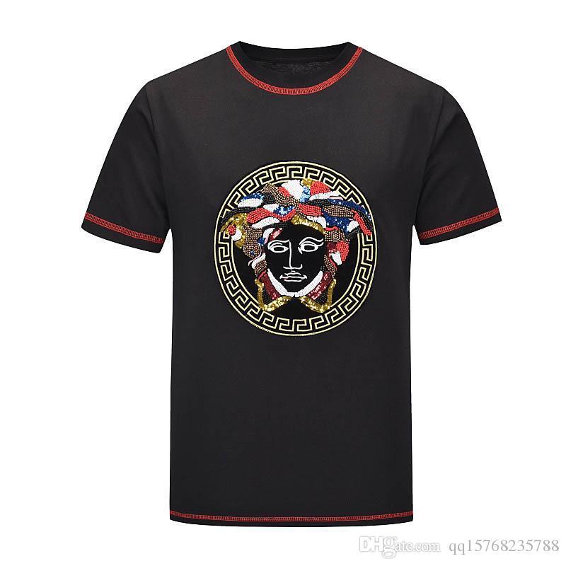dos homens de luxo de design T-shirt design casual tubarão moda de mangas curtas impressão homens de alta qualidade e mulheres T-shirt do hip-hop M 3XL