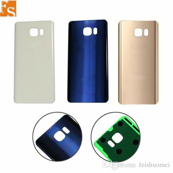 La meilleure qualité pour Samsung Galaxy Note 5 Note5 N920 N920F batterie capot arrière boîtier arrière porte avec adhésif 3 Couleur