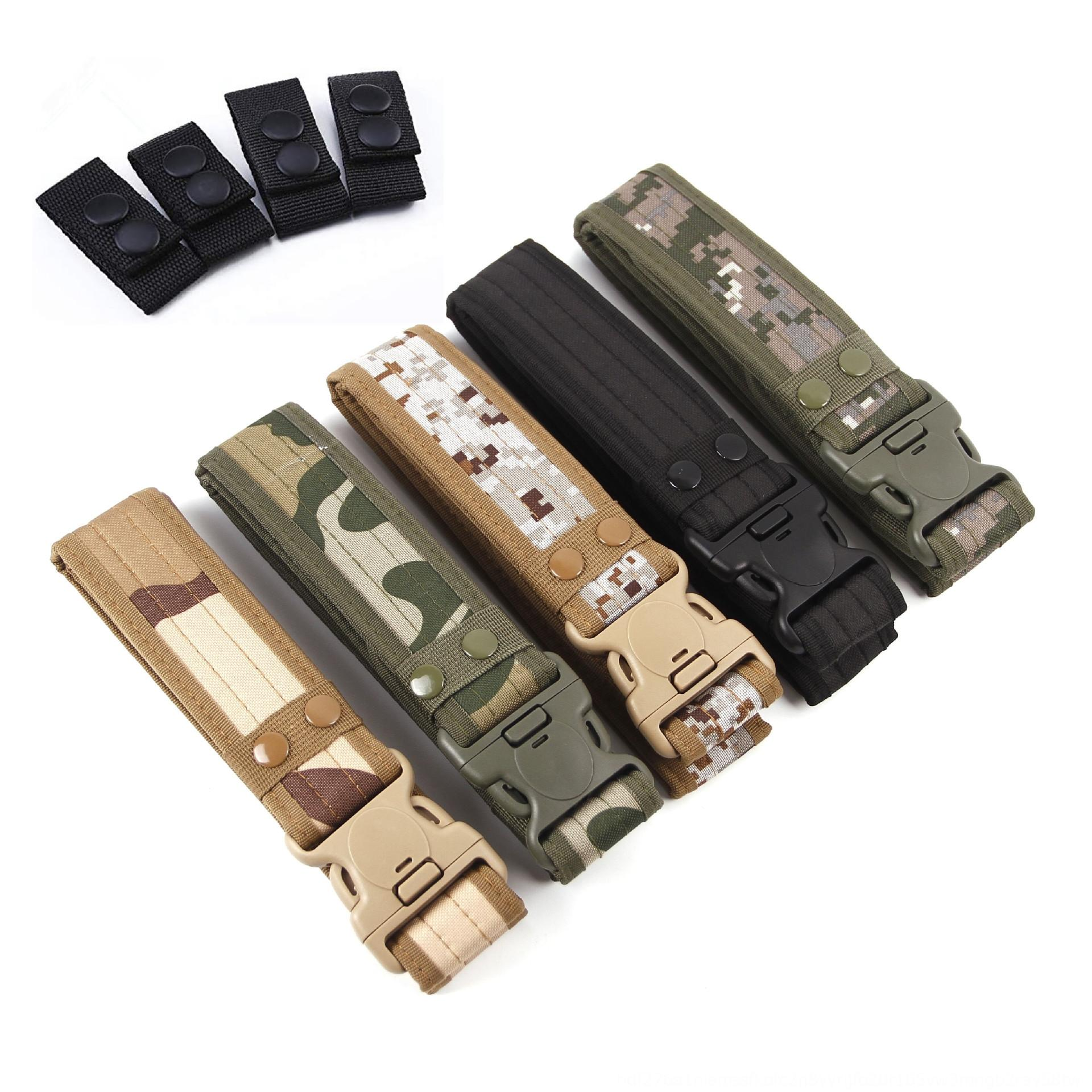 2020 lengthened thickened wear-resistant and comfortable tactical Lengthened Thickened belt outdoor woven men's belt belt