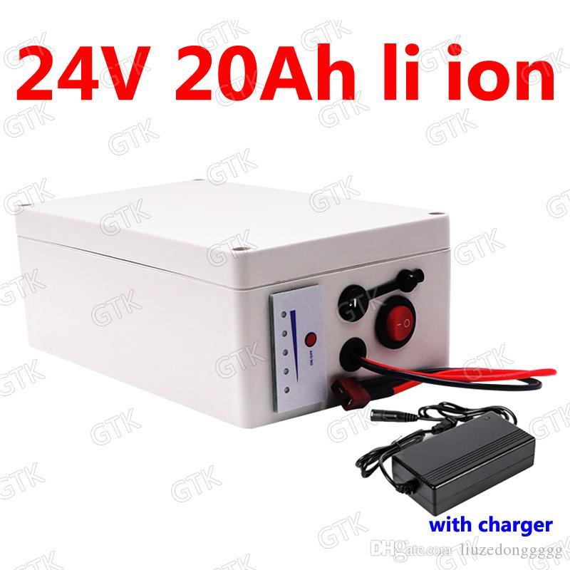 GTK 24v 20Ah lithium ion ion batterie li BMS 7S pour 500w solaire fauteuil roulant scooter vélo robot restaurant Tondeuse à gazon + chargeur 3A