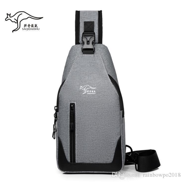 men handbag outdoor sports casual leather messenger bag lightweight waterproof canvas shoulder bag simple Oxford leather cycling bag