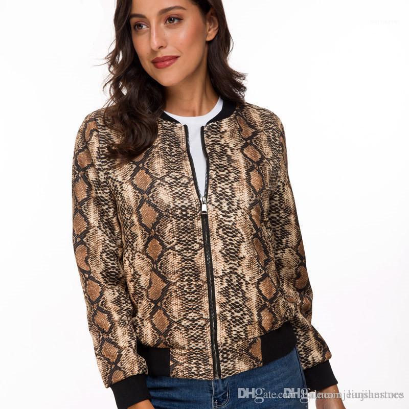 Дизайнерское пальто с застежкой-молнией Весна женщины цифровые печатные куртки повседневные женские тонкие пальто с воротником-стойкой мода