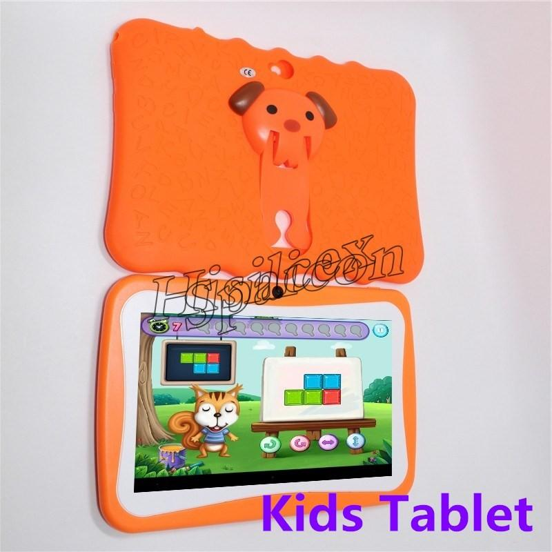 30pcs Kids Brand Tablet PC 7 inch Quad Core children tablet Android 4.4 Allwinner A33 google player wifi big speaker + protective cover