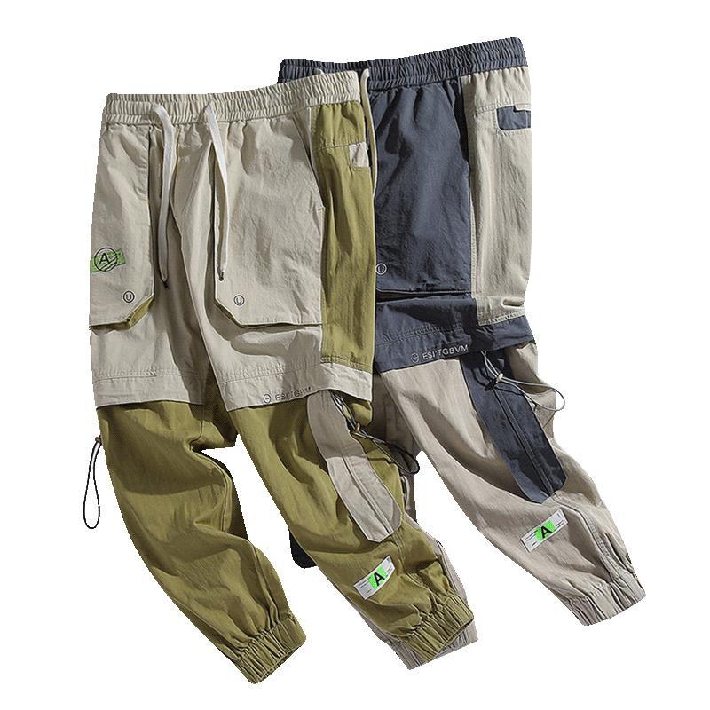 2020 Yeni Bahar Erkekler Streewear Harem Pantolon Elastik Bel Sweatpants Erkek Casual Pamuk Pantolon LBZ205