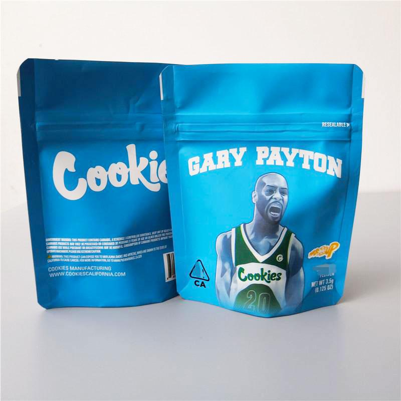 100 pack Cookies Gary Payton 3.5g Mylar Resealable Bags w *Hologram and Labels*