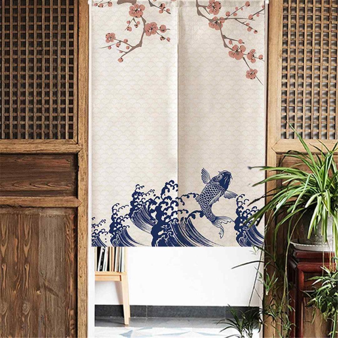 Noren Doorway Curtain Tapestry Kitchen Bedroom Door Short Curtain Drape