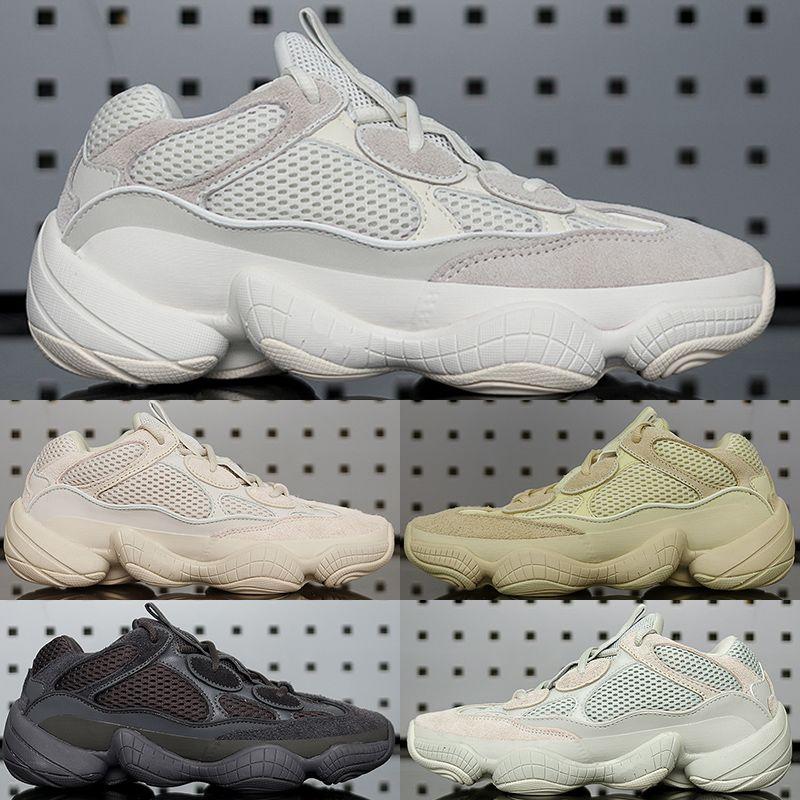 Top quality Desert Rat 500 Cloud White Citrin Bone White Reflective Kanye men designer shoes Utility Black Salt Blush Black Static Sneakers