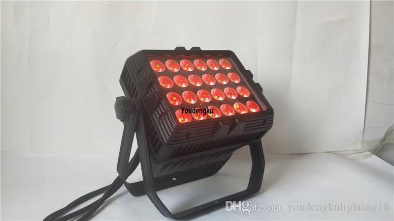 4 pezzi 24pcs 10w 4in1 led IP65 rgbw Cambiare colore del LED wall washer wall washer impermeabile condotto città colore della luce