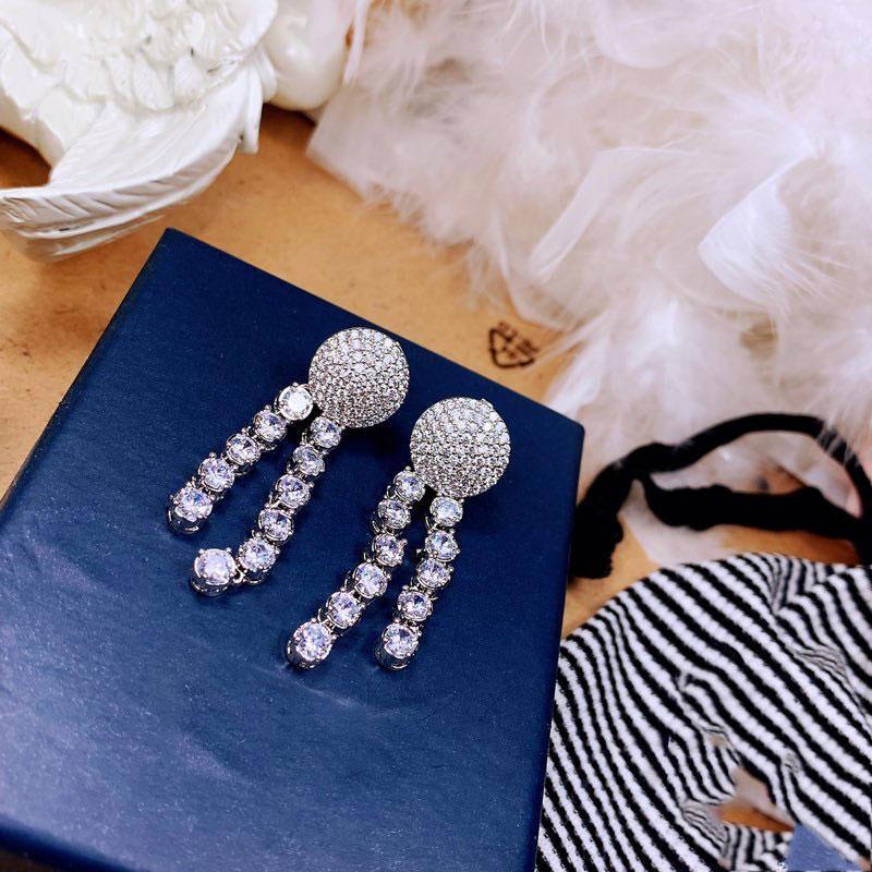 Baumeliger Kronleuchter Fransen Blume Ohrringe Schmuck Anhänger Ohrring Für Frauen Hochzeit Engagement Mode Weihnachten Party Geschenk 8679
