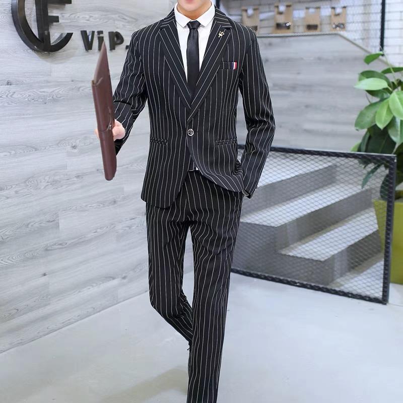 Two Piece Set Tarja Vestido De Casamento Ternos Para Homens Tuxedo Gentil Moderna cerimonial anfitrião traje do desempenho