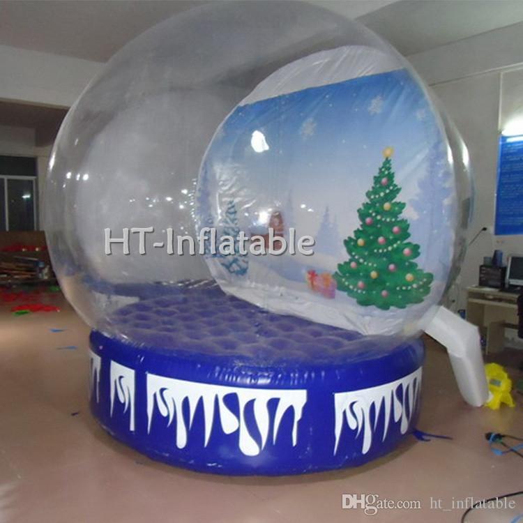 Freies Verschiffen 4.5m Benutzerdefinierte doppelte Schicht aufblasbar Leere Schnee-Kugel-Kugel-Verkauf / Gebraucht Kommerzielle Outdoor Weihnachtsdekoration mit Preis
