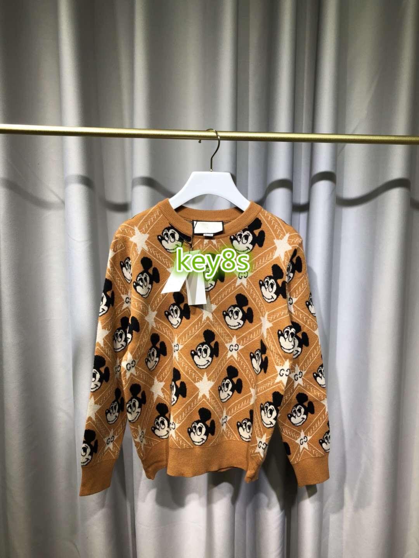 하이 엔드 여성 뜨개질 스웨터 풀오버 스웨터를 인쇄 스웨터 긴 소매 패션 여성 스웨터 기하학적 패턴의 편지