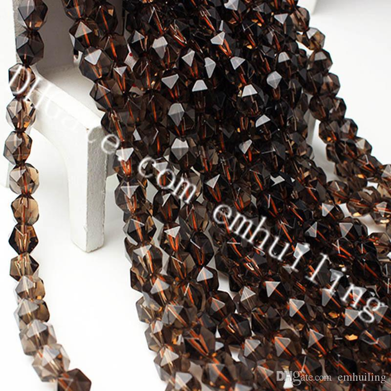 10 Strands Smoky Quartz Faceted Nugget Beads 6mm-12mm Star Cut Polygon Top Grade Genuine Natural Smokey Quartz Crystal Gemstone Loose Beads