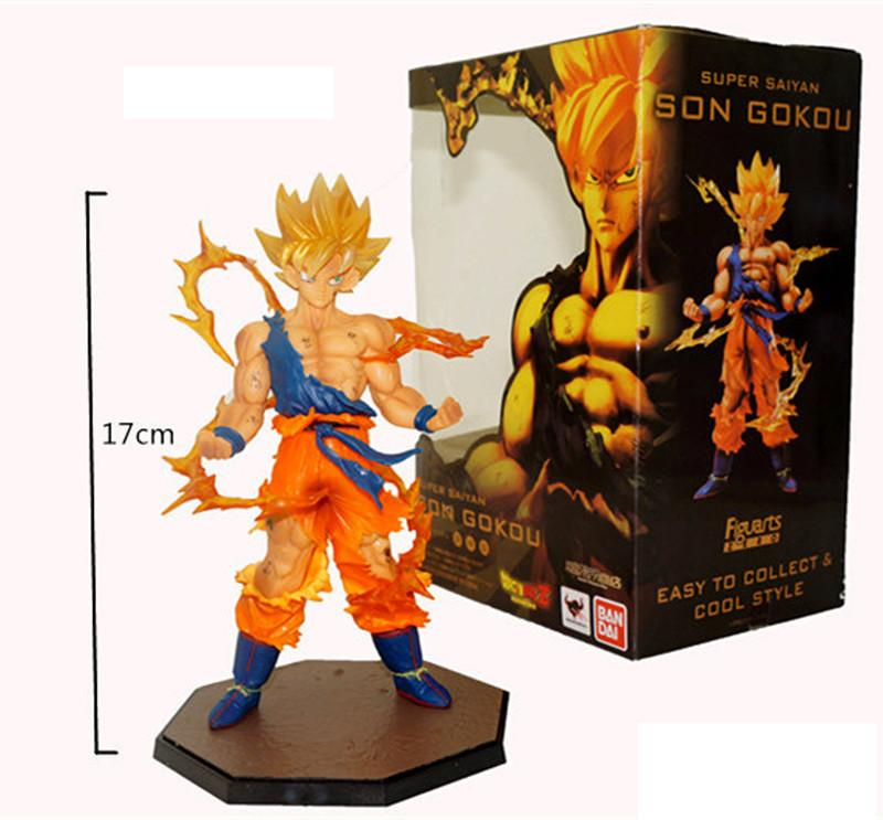 Hot Selling Toy PVC Dragon Ball Son Goku Kakarotto Action Figures Doll For Child Best Gifts 17CM Fast Shipping