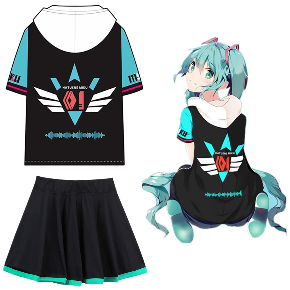 Strapless Dress Vocaloid Miku Cospaly Costume Orange Gown Mercy Dacing Skirt cos