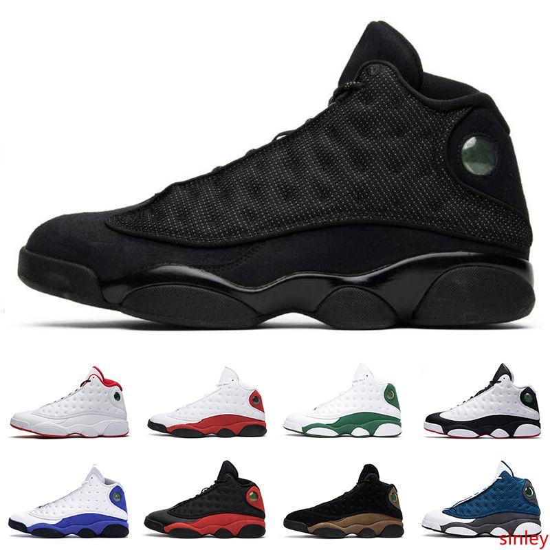 13s hommes chaussures de basket-ball haut Green Island BLACK CAT BRED CHICAGO HYPER ROYAL BLE Jumpman 13 hommes baskets de sport d'athlétisme
