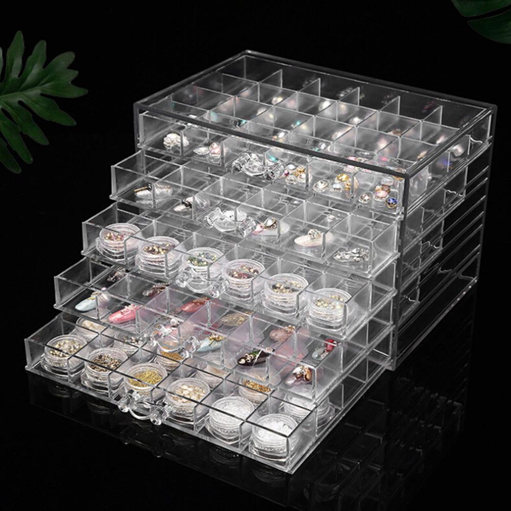 2020 120 Grids Clear Jewelry Organizer Acrylic Jewelry Packaging Display Organizer Porta Joias 5 Layer Jewellery Box Large Joyeros From Watcheshomie 43 2 Dhgate Com