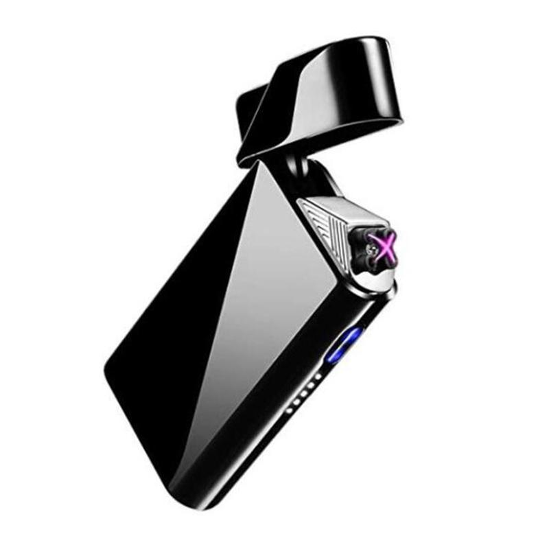 Nice Colorful Zinc Alloy USB ARC Windproof Charging Lighter Portable Innovative Design For Cigarette Bong Smoking Pipe High Quality DHL
