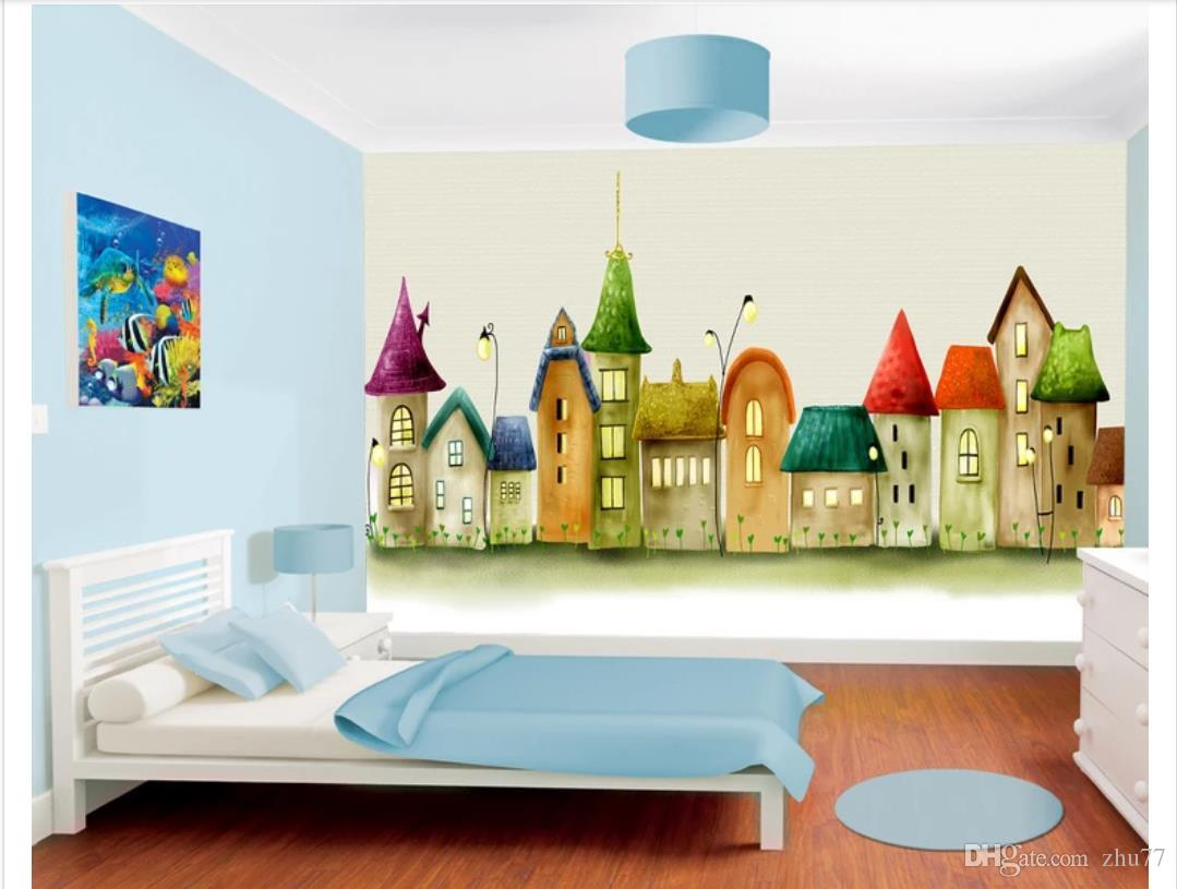3D papel de parede personalizado foto de seda papel de parede mural Castle comics quarto das crianças quarto fundo mural adesivo de parede Papel de parede