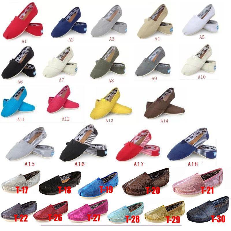 2020 Chaussures Casual Femmes / Hommes Classics TOM MRS Mocassins toile Slip-On chaussures Flats chaussures Lazy taille 5-15 livraison gratuite