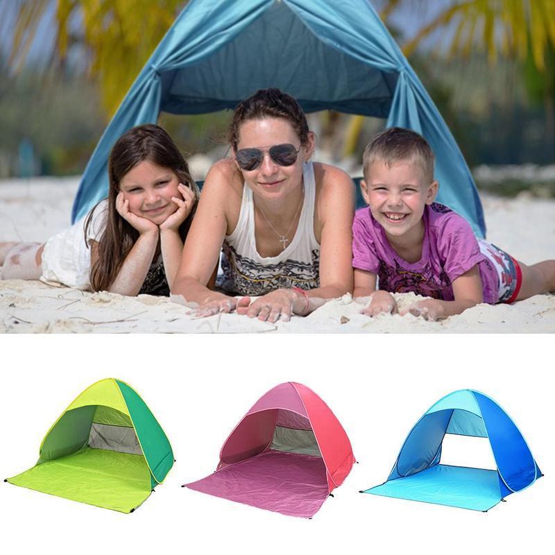 New Outdoor Tente de plage pleine automatique 2 deuxième vitesse ouverte Tente de plage d'ombre ultra léger pliant Camping UV