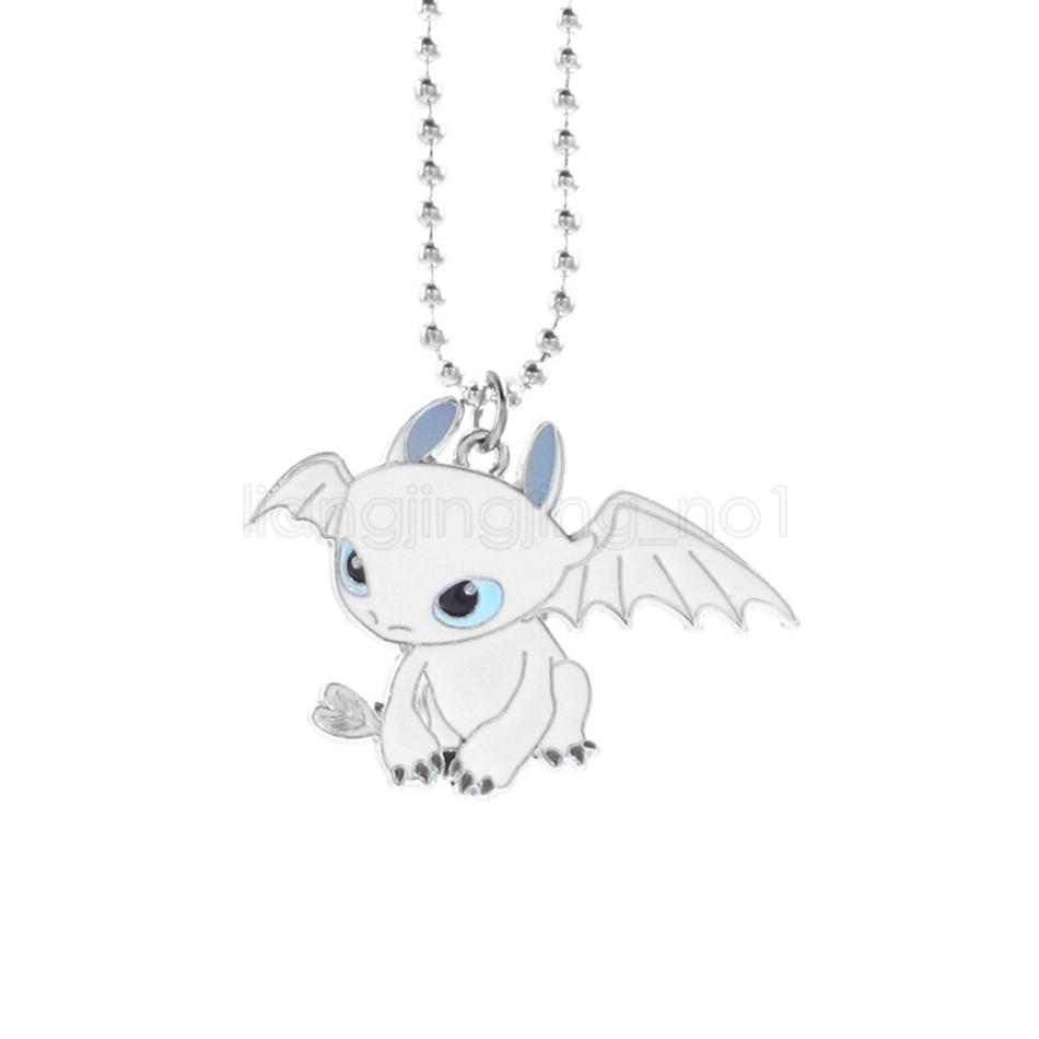 How To Train Your Dragon 3 Keychain Necklace white Toothless Dragon Night Fury Car Bag Handbag Couple Key Chains Accessories
