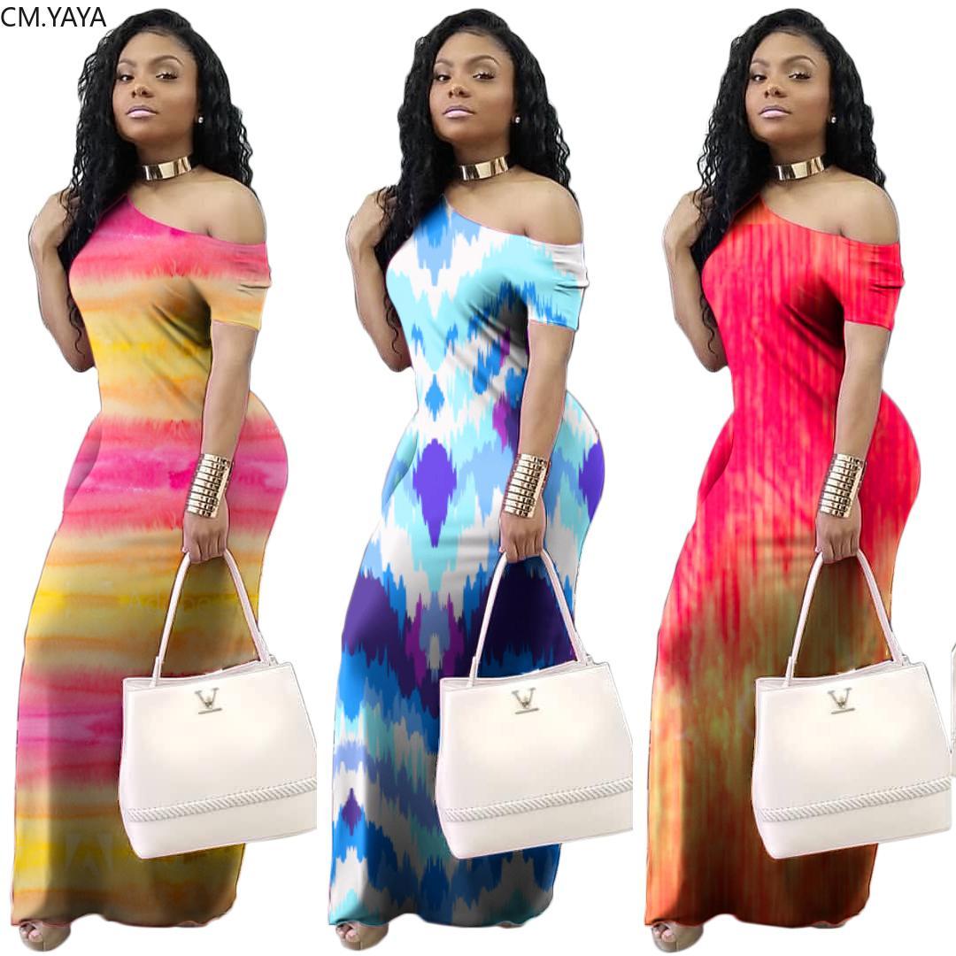 Kadınlar Yaz Uzun Maxi Elbise Kısa Kollu Baskı O-Boyun Plaj Gevşek Parti Gece Kulübü Bandaj Şık Elbiseler vestidos 6337