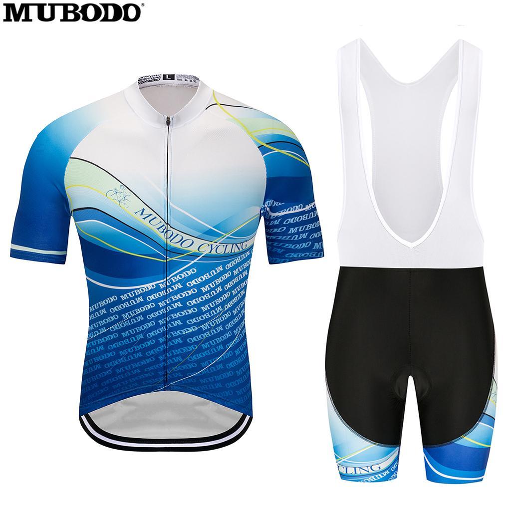 Blue New Design Bike Cycling Jersey Sports Short Sleeve Breathable Bib Shorts