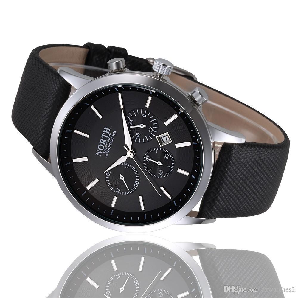 2018 reloj neuer 2020 Mode Quarz Militär Herrenuhr Leder einfachen elegante Uhr Edelstahl Zifferblatt Uhr