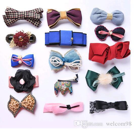 10 قطعة / الوحدة مزيج الألوان نمط الأزياء الشعر مجوهرات كليب المشابك الملحقات للنساء diy هدية HJ08 *