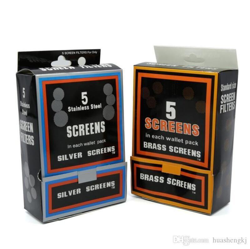 Diâmetro 2,0 centímetros tamanho padrão de aço inoxidável prata Telas de latão para fumadores filtro de linha 500pcs Hookah alta qualidade / Box Hot Sale