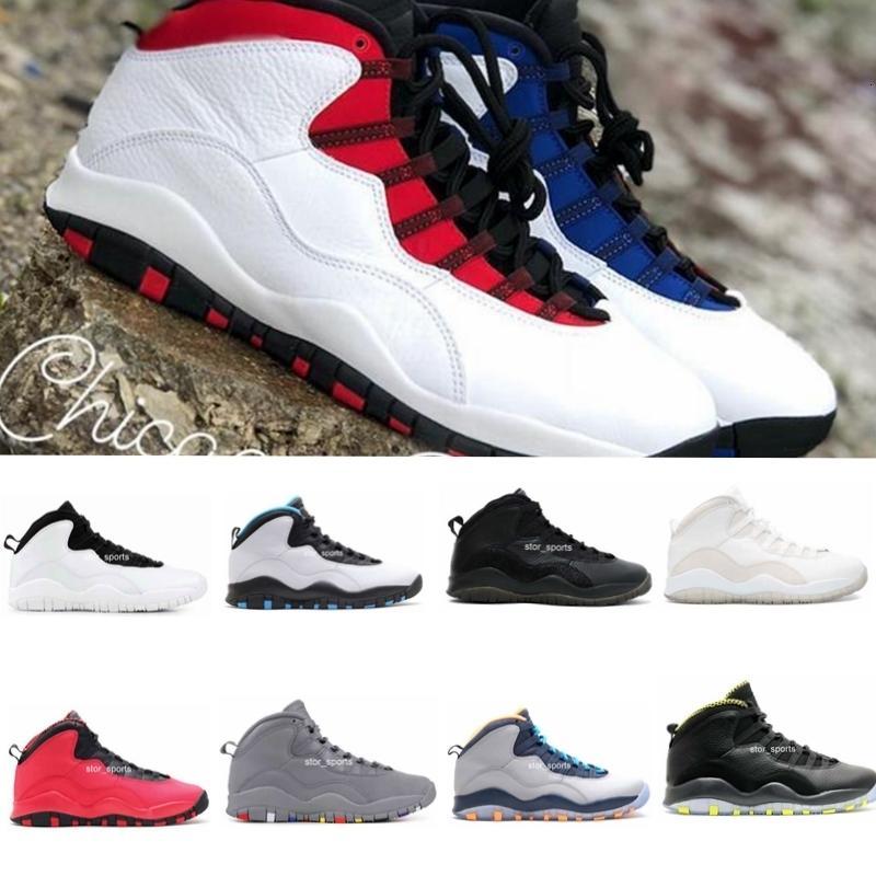 New 10 Westbrook Red Azul Cimento Homens tênis de basquete 10s I m Voltar pó azul fresco cinzento- Sneakers de alta qualidade com