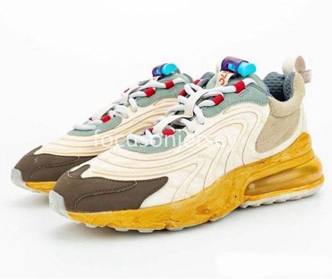 2020 YENİ Travis Scotts 270S Ayakkabı Bayan Spor Sneaker Eur36-45 ile Kutu Running Kaktüs Parkur Mens tepki x
