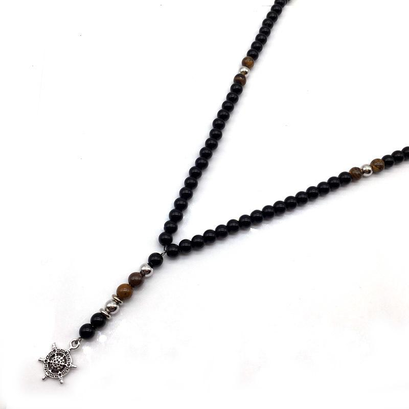 collier perle homme fashion