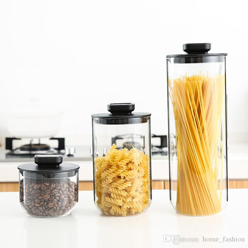2019 Set Glass Storage Bottles Food Canister For Kitchen Containers Jars  Box Spice Tea Vacuum Caps Sugar Bowl Boxing Seal Lid From Home_fashion, ...
