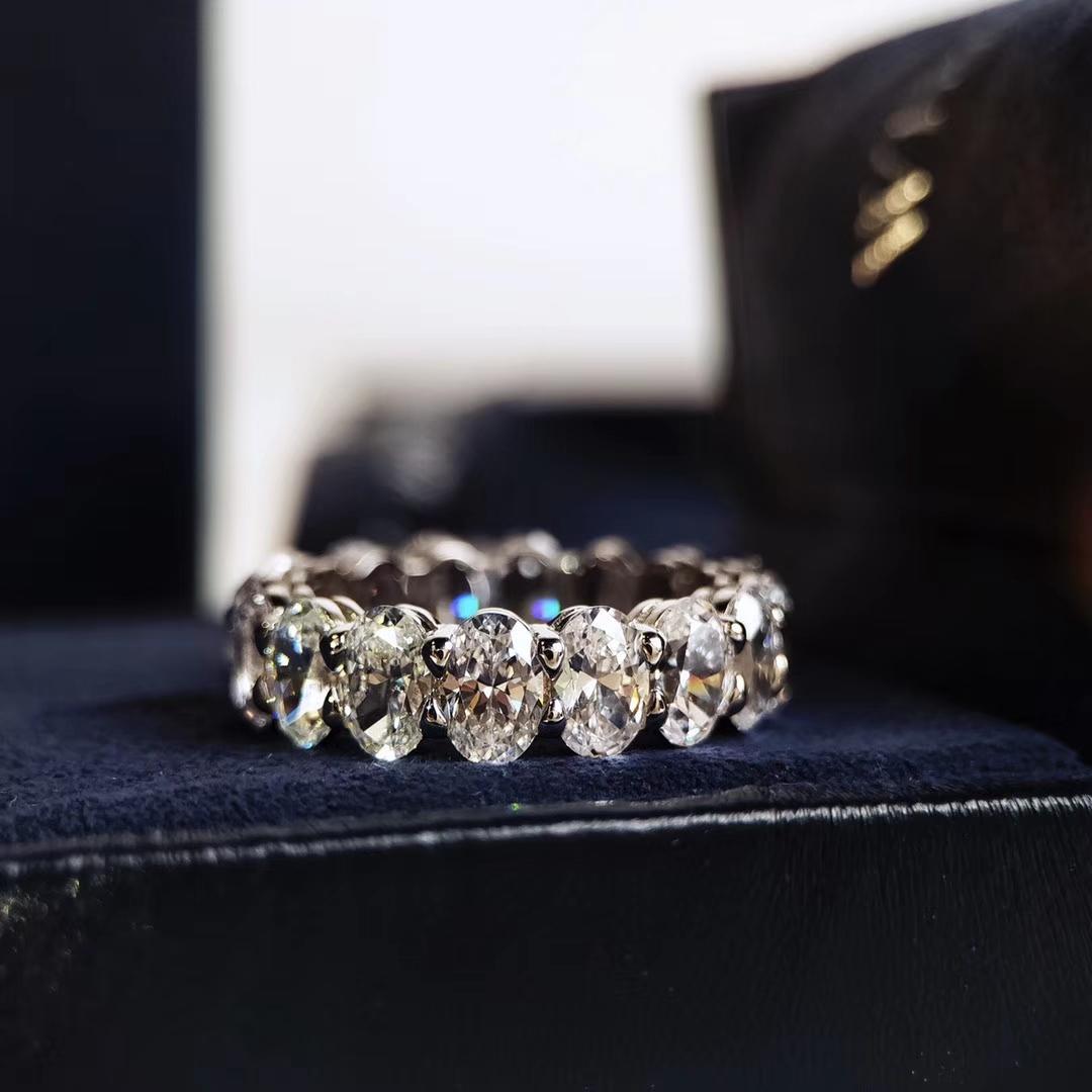 Anéis femininos Party Tour Acessórios de alta qualidade Anéis para mulheres Crystal Cuts são impecáveis