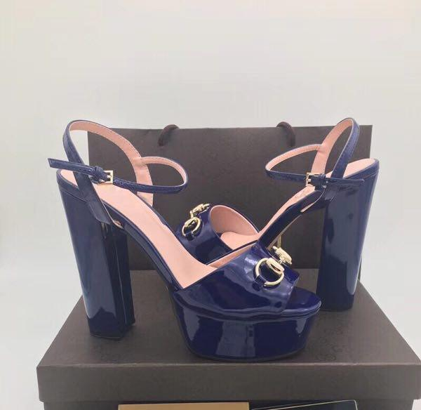 Hot Sale-2018 fashion ladies sandals for women with box style jelly color best 8 colors. Size 35-41+BOX