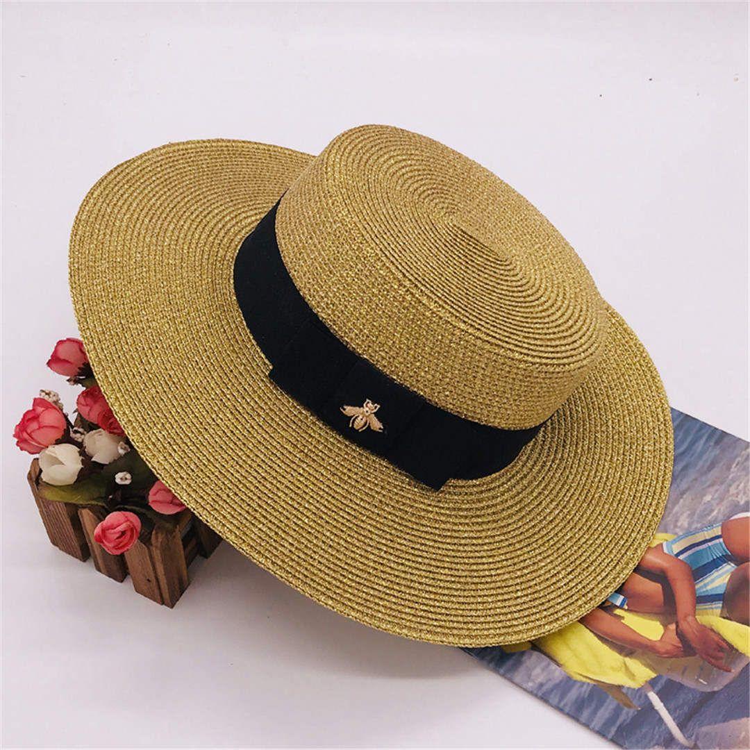Little Bee Cappelli Cap donne largo cappello di modo Brim Hat Summer Beach regolabile vendita Cap nuovo modo caldo Erba Top Hat alta qualità