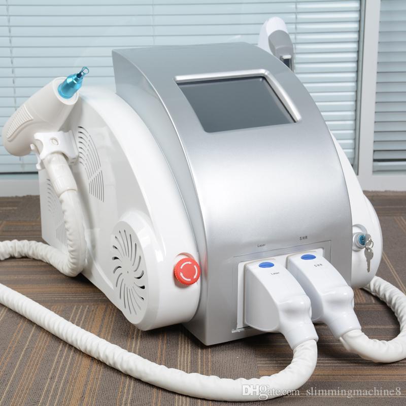 Grande promozione OPT SHR macchina per la depilazione ipl q commutata nd yag rimozione del tatuaggio laser elight seno sollevare macchina multifunzione