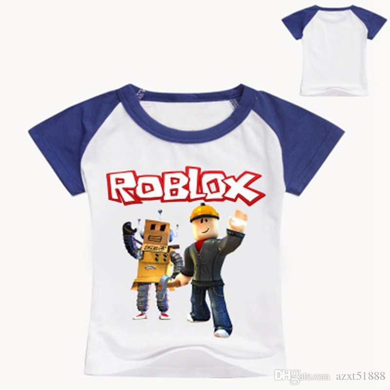 Roblox 3D 인쇄 된 T 셔츠 여름 짧은 소매 옷 아이들 게임 t- 셔츠 소녀 만화 정상 Tes 아기 소녀 소년 셔츠