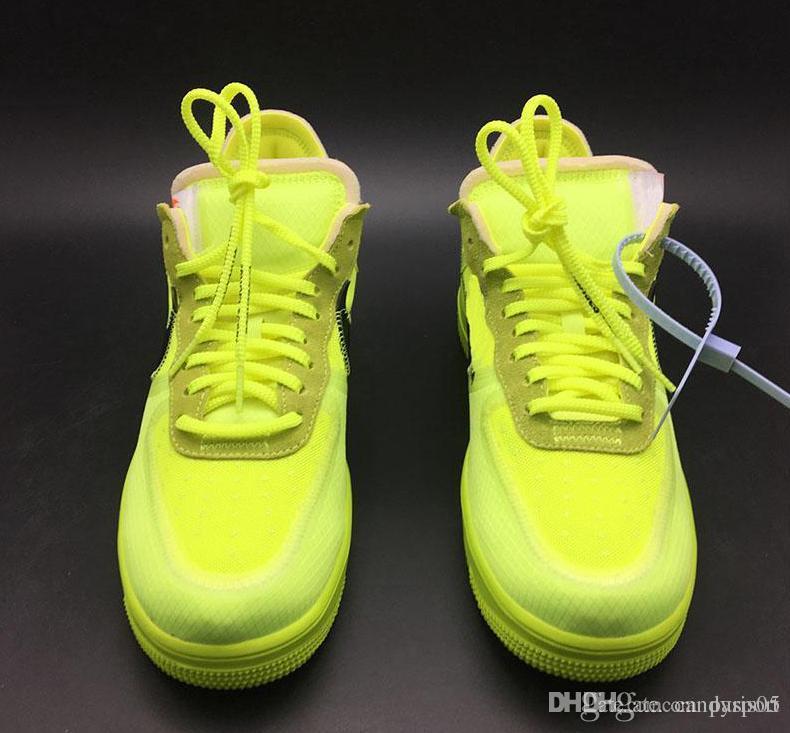 Großhandel 2019 Nike Air Force 1 Flyknit Utility Weiß Schwarz Hohe Schnitt Männer Frauen Sport Turnschuhe Lässige Schuhe Zwingen Eine Laufschuhe Größe
