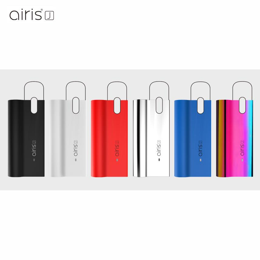 Original Airis J Box Mod Kit E Cigarette Battery Vape Mods 420mAh Auto Battery With Micro USB Charger for Thick Oil Pods Cartridges