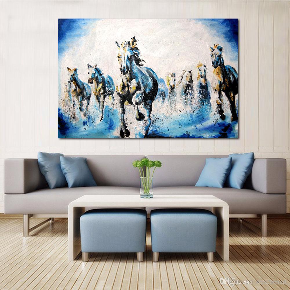 Großhandel 1 Panel Moderne Tier Zeichnung Pferd Gemälde Auf Leinwand  Moderne Wandbilder Für Wohnzimmer Wohnkultur Kein Rahmen Von Weichenart,  $27.13 ...