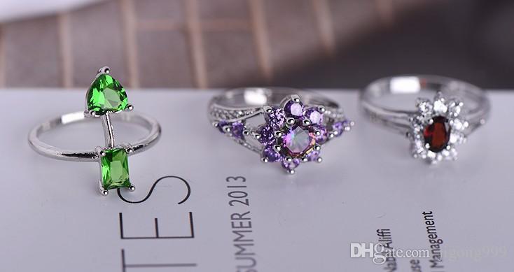 low price high quality wholesale 10pcs/lots diamond jewelry stone lady's earings (3.5) (random)rthg
