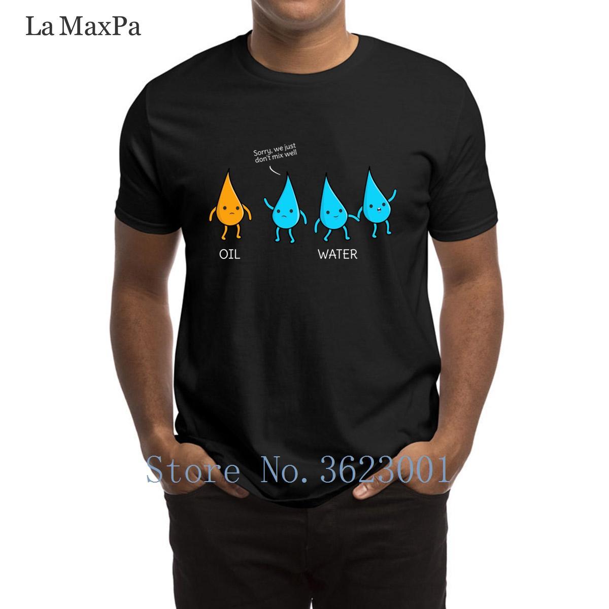 Crear Carta de la camiseta divertida de la ciencia y la química Pun T camisa del traje de la familia Camiseta clásico de manga corta camiseta hombre