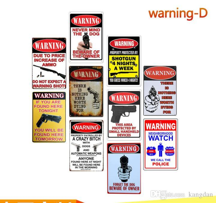 Nova advertência arma de tiro área de perigo de metal sinais de lata de café em casa pub bar loja decoração placas de parede cartaz pintura arte artesanato