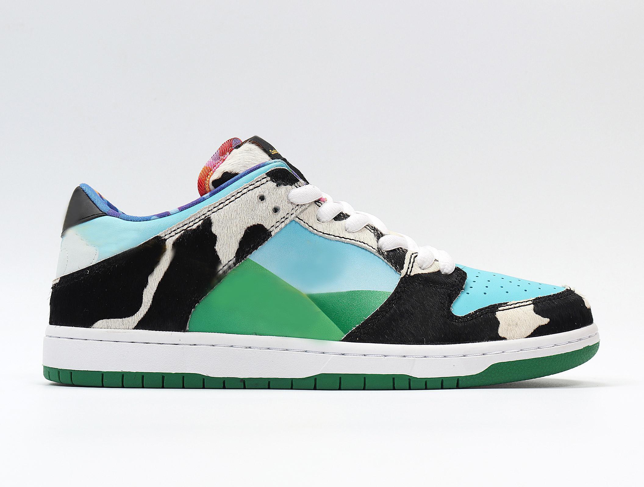 2020 Nueva Dunk Chunky DUNKY los hombres auténticos de los zapatos corrientes de Green Diamond deporte del baloncesto de las zapatillas de deporte que andan en monopatín Entrenadores tamaño 36-45 con la caja
