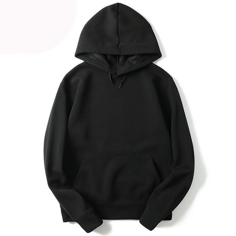 Neue beiläufige Einfarbig leer Hoodies Männer und Frauen Hip Hop Street Herren-Sweatshirt Paar Warm Hoodie Male WGWY124