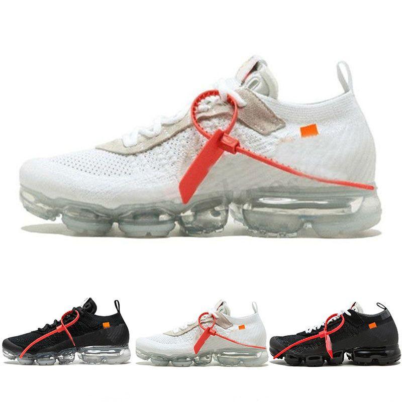 Nike Air VaporMax FK Vapores Fly 2.0 II Knit FK 2.0 Homens sapatos Oeste VPM TN Mais de Designer Shoes Black White Casual respirável Sneakers Tamanho US 5,5-11 PP03