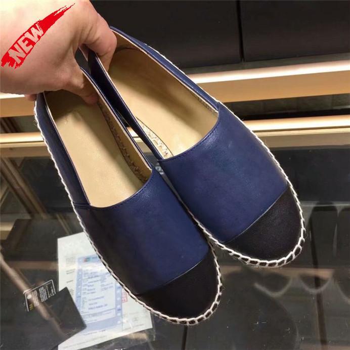Con Zapatos BoxTop Classic verano de las mujeres sandalias de tacón bajo Alpargatas Pescador diseñador del cuero del ocio de la lona zapatillas de deporte de Estados Unidos W3